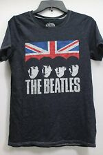Men's The Beatles England Flag Gray Sz. S T-Shirt