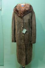 Traumhafter  Lamm-Fell Mantel shearling Gr 48 Kürschner echt Leder grün-braun