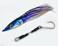 "10"" LURE FULLY RIGGED, MARLIN WAHOO, DOLPHIN, MAHI LURE WITH SS CABLE HOOKSET"