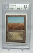 MTG Magic the Gathering Unlimited Scrubland BGS 8.5 NM-MT+ With (3) 9 subs