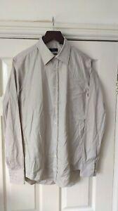 Hugo Boss Slim Fit Brown Thin Fine Stripe Shirt Size 15/38 *VGC*