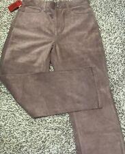 NOS New Vtg 1999 Levis Womens 12 Short Pink Suede Leather Moto Hippie Boho Pants