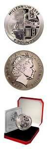Gibraltar Millennium World's First Titanium Coin 1999 Case and COA