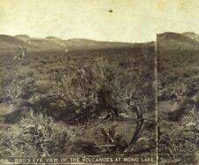 1860's-70's Bird's Eye View Volcanoes at Mono Lake, CA Stereoview California