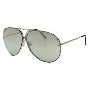 Porsche Design 8478 B Silver Titanium Men's Mirror Sunglasses 69-10-135 W/Case