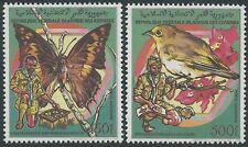 COMORES PA N°270/271** Oiseau ,papillon. Scoutisme TB, 1989 Comoro Islands MNH