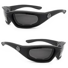 Chopper Wind Resistant Sunglasses Extreme Sports Motorcycle Riding Glasses Black