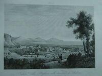 1845 Zuccagni-Orlandini Veduta della Bagheria nelle vicinanze di Palermo Sicilia