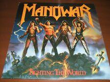"Manowar-Fighting the World ""First Press""LP 1987 ATCO Germany"
