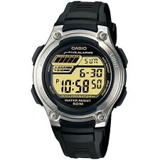 Casio W-212H-9AV Stainless Steel Black Standard Digital Watch with Box Included