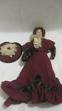 Rare Limited Edition Victorian Cameo Porcelain GIBSON GIRL IN VOGUE 1990