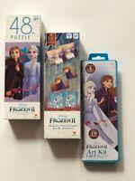 Disney Frozen 2 Memory Match,Puzzle NEW Bundle//Lot Art Kit