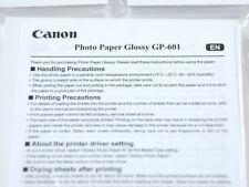 CANON GLOSSY PHOTO PAPER GP-601 50 COUNT PER PACK  (H-1-4-3)