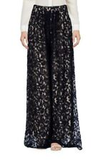 NWT ROBERTO COLLINA Wide Lace Pants Made in Italy SMALL Cotton Navy Blue $315