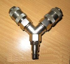 Y-Type Air Fitting.Quick Release Y Piece Air Line Fitting for Compressors.