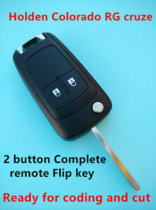 Holden cruze colorado RG Complete remote Flip key includes chip +remote 2 button