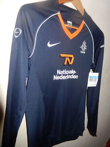 New Holland Netherlands blue long sleeve WOMAN'S football shirt Nike BNWT M