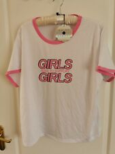 Daisy Street Curve Womens Size 20 Girls Support Top T Shirt Feminism Pink NWT