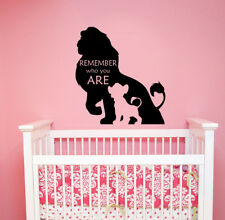 Disney Wall Decal Remember Who You Are Lion King Quote Vinyl Sticker Decor lk20