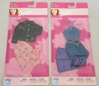 2x Barbie Cool & Casual Fashions / Freizeit Look / Mode Kleidung Outfit - Mattel