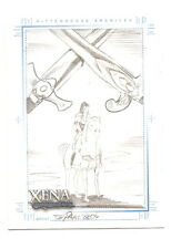 2004 Xena Art & Images Sketch Card Eduardo Pansica