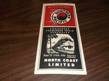 SUMMER 1954 NP NORTHERN PACIFIC NORTH COAST LIMITED PASSENGER TRAIN SCHEDULES