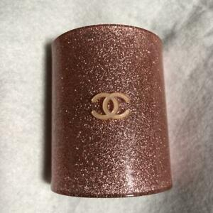 CHANEL Auth COCO Mark Glitter pink Barrette Hair clip Used Excellent condition