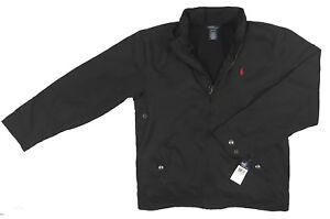 NEW Polo Ralph Lauren Boys Jacket!   Black or Blue  Nylon with Fleece Lining