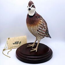 "Wild Wings Sam Nottleman Signed Numbered Ltd Ed 1996 Grouse Decoy Figure 9.75""H"