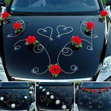 DEKOR Auto Schmuck Braut Paar Rose Deko Dekoration 12 Farben Hochzeit Ratan