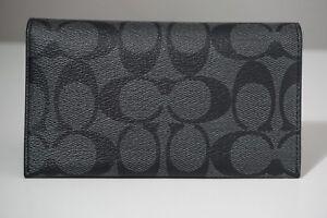 Coach Signature Charcoal/Black Universal Phone Case F63972