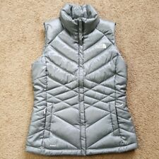 The North Face Womens Gray 550 Goose Down Puffer Vest Small