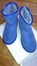 EMU Stinger Mini-Boots Velourleder, Lammfellfutter Blau- Gr.40/41 neu