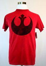 STAR WARS Rebel Distress T Shirt Adult Small Red Mineral Wash