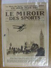 05/10/1926 le miroir des sports-Hebdomadaire Français Pictorial magazine: Nº 0338-B