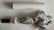 ombrello da donna uomo da borsa tasca con custodia, a bottiglia metallo BIANCO