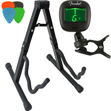 Guitar Stand Kit: Guitar Stand, Tuner, and 4 Assorted Picks.