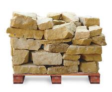 Trockenmauerstein Sandstein Gelb Ocker Bruch Palette 1 to = 1000kg