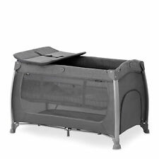 Hauck Play 'n Relax Centre Travel Cot - Melange Charcoal