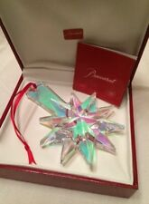 Baccarat 2013 Annual Ornament Christmas Star Iridescent xmas tree New in Box