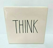 Rae Dunn~THINK on one side EVOLVE on other~Office/Desk Paperweight~Vintage~NEW