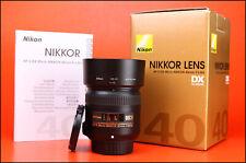 Nikon AF-S 40mm F2.8 G DX AF Nikkor Lens - Front & Rear Lens Caps, Hood & Boxed
