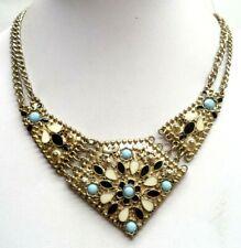 "Tone Flower 20"" Necklace! 6571G Stunning Vintage Estate Heavy Gold"