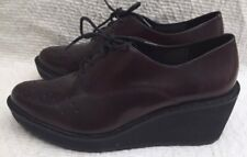 Clarks Narrative Oxblood Red Shoes Brogue Wedge Sze 5.5 Lace Up Formal Bloggers