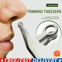 Universal Nose Hair Trimming Tweezers Stainless Steel Clip Tool UK