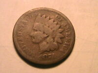 1874 Indian Head Cent Nice Good (G) Original Brown USA 1 Small Penny Coin