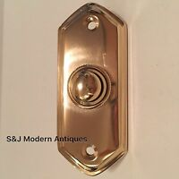 Door Bell Antique Mains Wire Vintage Push Button Brass Doorbell Victorian Switch