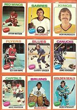 1975-76 Topps Hockey you pick 10 picks $3.00 EX AND BETTER