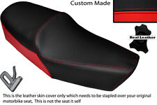 BLACK & RED CUSTOM FITS HUONIAO HN 125-8 DUAL LEATHER SEAT COVER ONLY