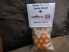 MAD RIVER FISH BEADS BROWN TROUT MATTE 10 MM